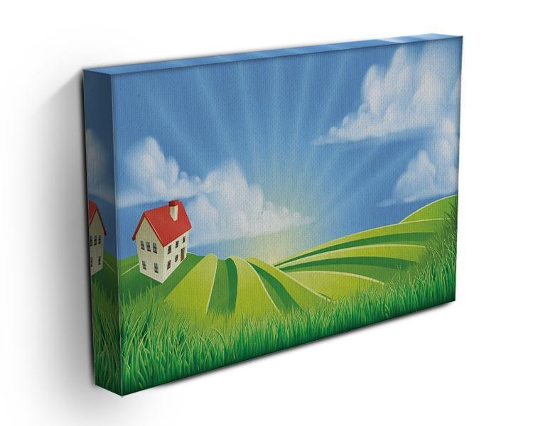 A rolling hills fields farm sunrise Canvas Print or Poster - Canvas Art Rocks - 3