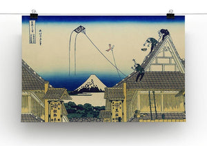 A sketch of the Mitsui shop by Hokusai Canvas Print or Poster - Canvas Art Rocks - 2