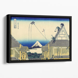 A sketch of the Mitsui shop by Hokusai Floating Framed Canvas