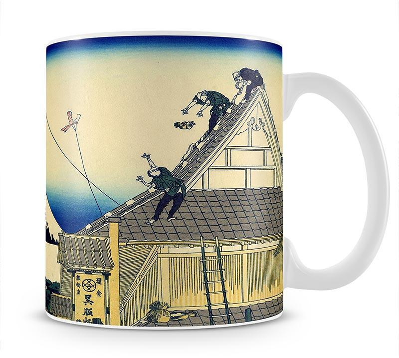 A sketch of the Mitsui shop by Hokusai Mug - Canvas Art Rocks - 1