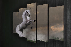A unicorn stag asserts its power 5 Split Panel Canvas  - Canvas Art Rocks - 2