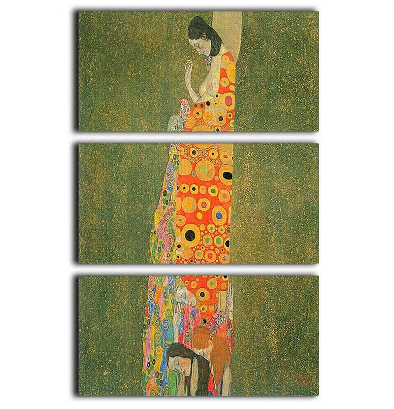 Abandoned Hope by Klimt 3 Split Panel Canvas Print - Canvas Art Rocks - 1