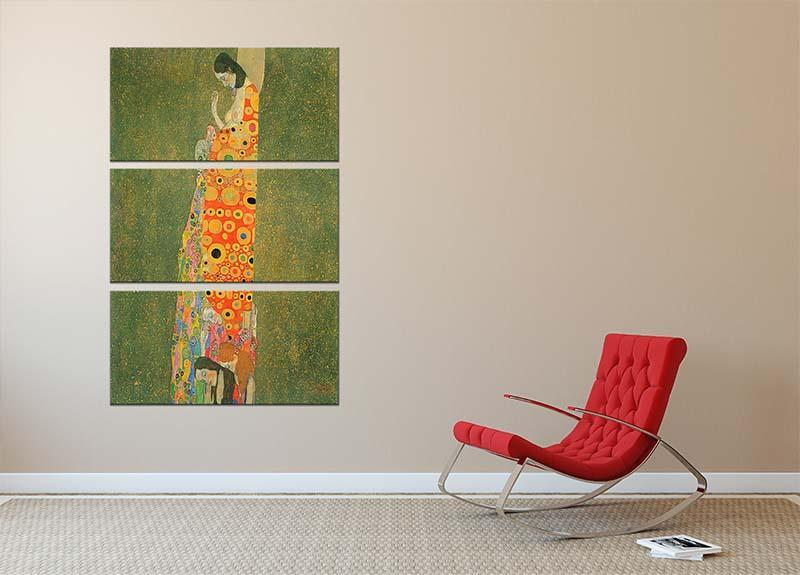 Abandoned Hope by Klimt 3 Split Panel Canvas Print - Canvas Art Rocks - 2