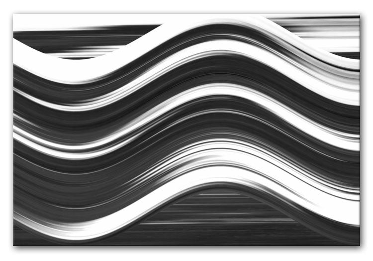 Abstract Wave Print - Canvas Art Rocks - 6