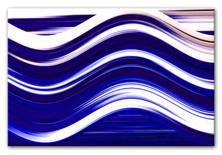 Abstract Wave Print - Canvas Art Rocks - 2