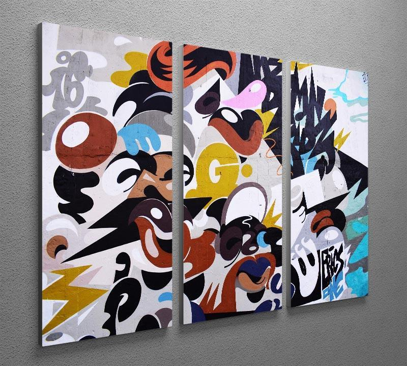 Abstract Graffiti 3 Split Panel Canvas Print - Canvas Art Rocks - 2