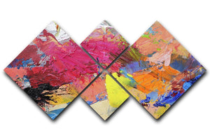 Abstract art 4 Square Multi Panel Canvas  - Canvas Art Rocks - 1