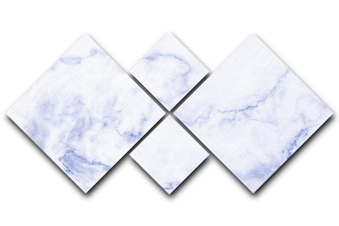 Abstract blue marble patterned 4 Square Multi Panel Canvas