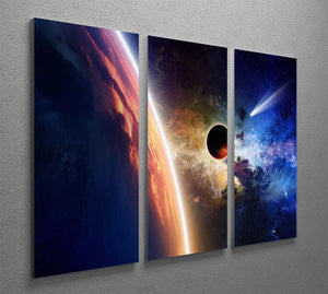 Abstract scientific background 3 Split Panel Canvas Print - Canvas Art Rocks - 2