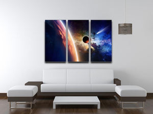 Abstract scientific background 3 Split Panel Canvas Print - Canvas Art Rocks - 3