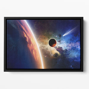 Abstract scientific background Floating Framed Canvas