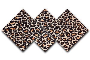 Abstract texture of leopard 4 Square Multi Panel Canvas  - Canvas Art Rocks - 1