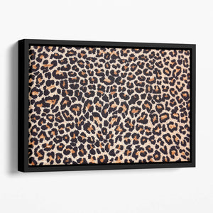 Abstract texture of leopard Floating Framed Canvas