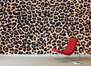 Abstract texture of leopard Wall Mural Wallpaper - Canvas Art Rocks - 2