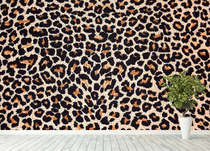 Abstract texture of leopard Wall Mural Wallpaper - Canvas Art Rocks - 4