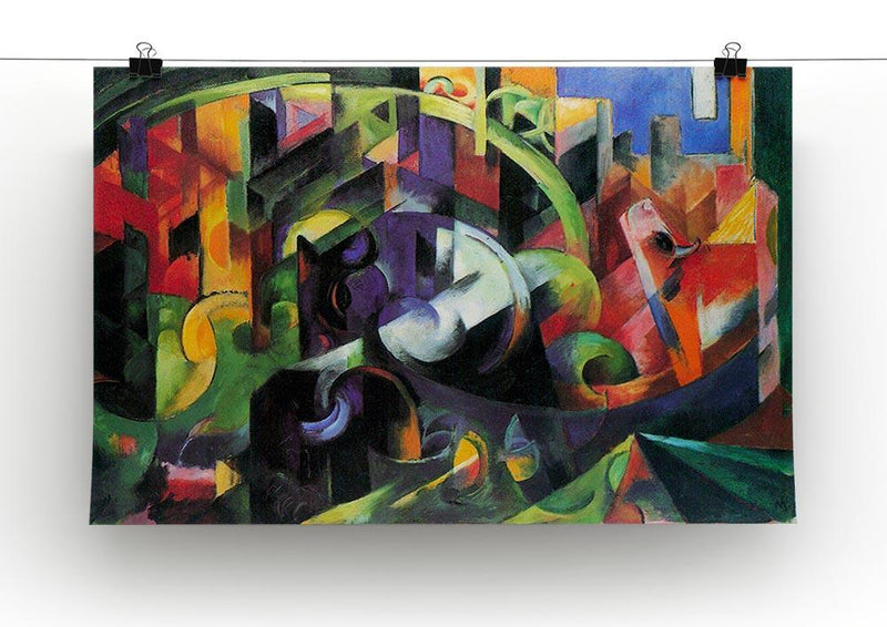 Abstract with cattle by Franz Marc Canvas Print or Poster - Canvas Art Rocks - 2