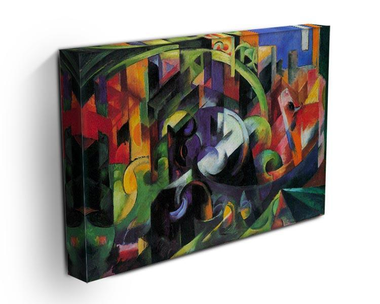 Abstract with cattle by Franz Marc Canvas Print or Poster - Canvas Art Rocks - 3
