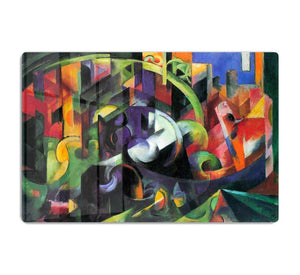 Abstract with cattle by Franz Marc HD Metal Print