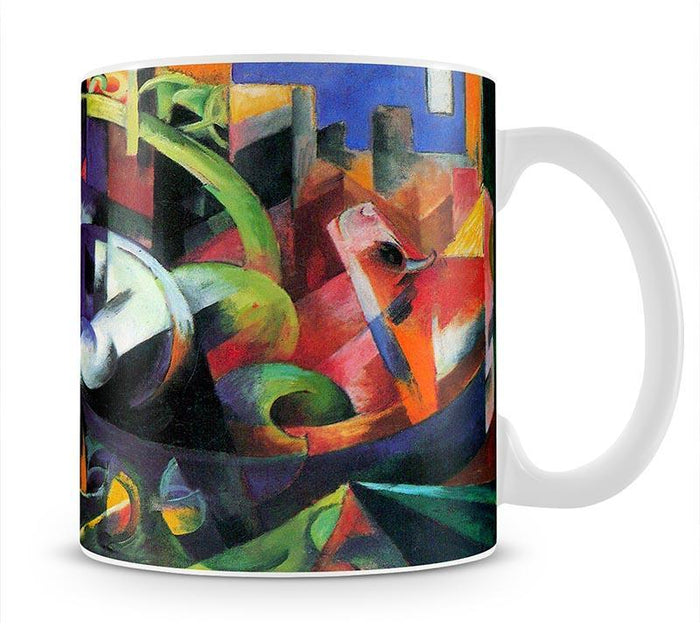 Abstract with cattle by Franz Marc Mug