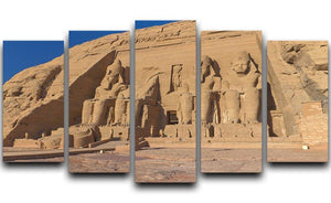 Abu Simbel Temple of King Ramses II 5 Split Panel Canvas  - Canvas Art Rocks - 1