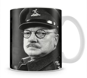 Actor Arthur Lowe as Captain Mainwaring Mug - Canvas Art Rocks - 1
