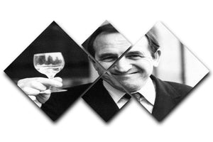 Actor Leonard Rossiter raises a glass 4 Square Multi Panel Canvas  - Canvas Art Rocks - 1