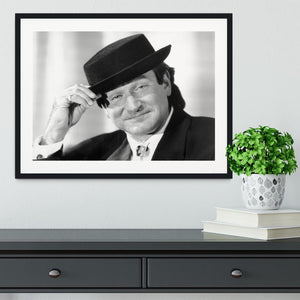 Actor Robin Williams Framed Print - Canvas Art Rocks - 1