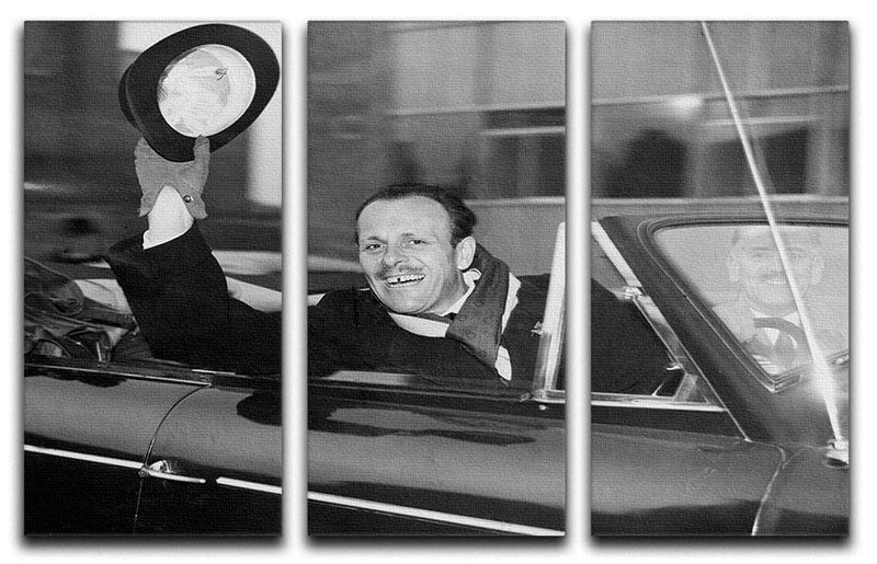 Actor Terry Thomas 3 Split Panel Canvas Print - Canvas Art Rocks - 1