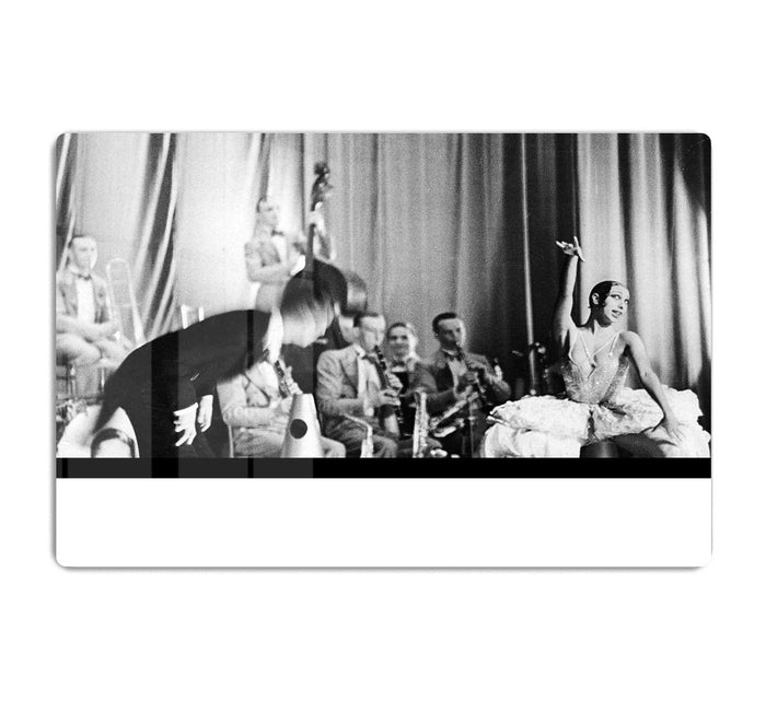 Actress Josephine Baker at the Prince Edward theatre HD Metal Print