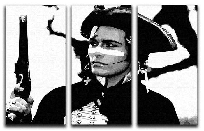 Adam Ant 3 Split Panel Canvas Print