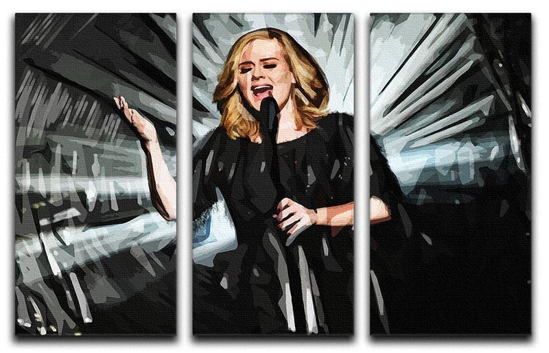 Adele 3 Split Panel Canvas Print - Canvas Art Rocks - 1