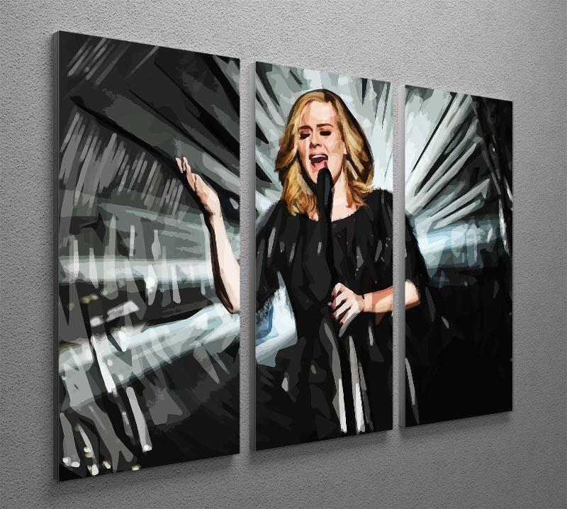 Adele 3 Split Panel Canvas Print - Canvas Art Rocks - 2