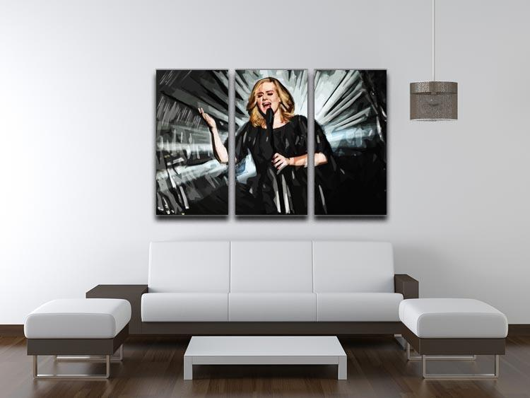 Adele 3 Split Panel Canvas Print - Canvas Art Rocks - 3