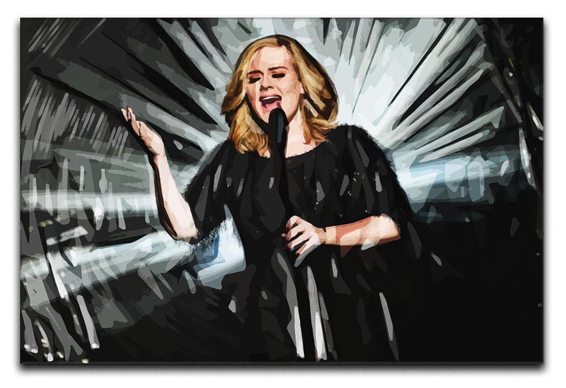 Adele Print - Canvas Art Rocks - 1