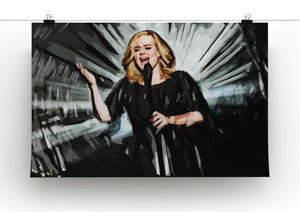 Adele Print - Canvas Art Rocks - 2