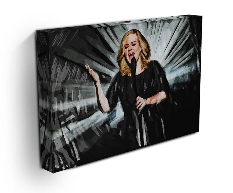 Adele Print - Canvas Art Rocks - 3