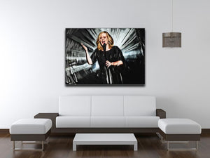Adele Print - Canvas Art Rocks - 4