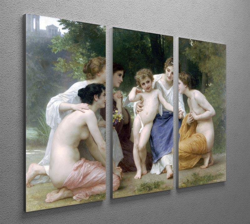Admiration By Bouguereau 3 Split Panel Canvas Print - Canvas Art Rocks - 2