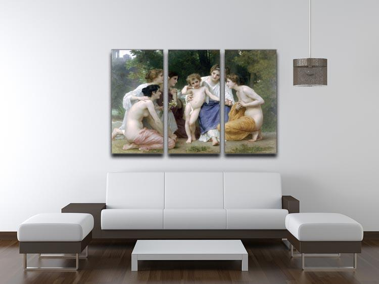 Admiration By Bouguereau 3 Split Panel Canvas Print - Canvas Art Rocks - 3