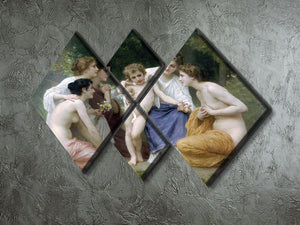Admiration By Bouguereau 4 Square Multi Panel Canvas - Canvas Art Rocks - 2