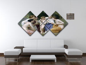Admiration By Bouguereau 4 Square Multi Panel Canvas - Canvas Art Rocks - 3