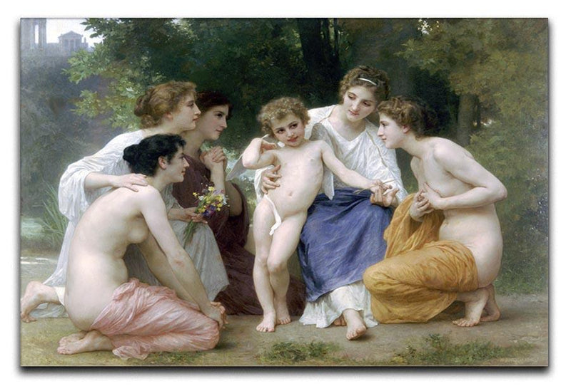 Admiration By Bouguereau Canvas Print or Poster  - Canvas Art Rocks - 1