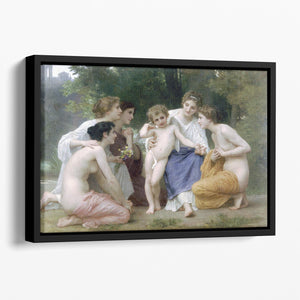 Admiration By Bouguereau Floating Framed Canvas