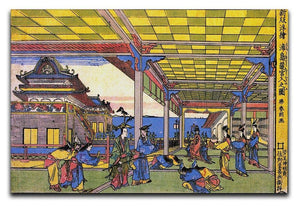 Advent of Urashima at the Dragon palace by Hokusai Canvas Print or Poster  - Canvas Art Rocks - 1