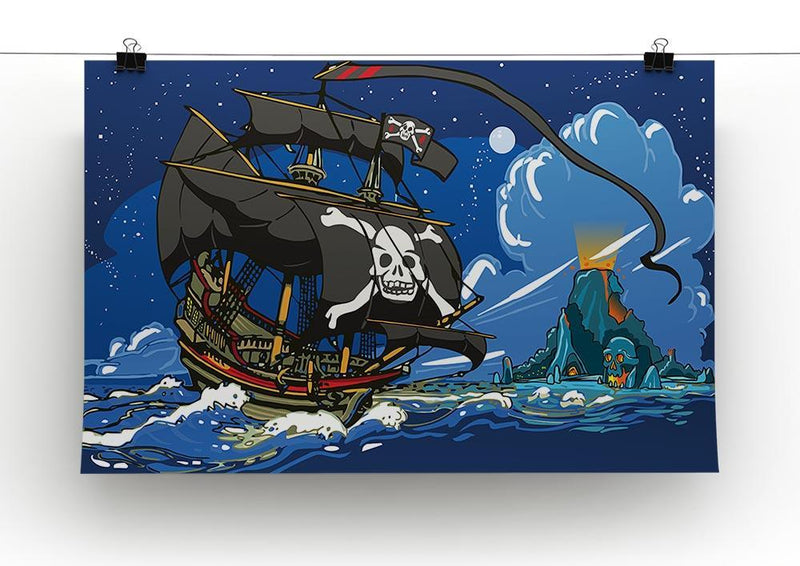 Adventure Time Pirate Ship Sailing Canvas Print or Poster - Canvas Art Rocks - 2