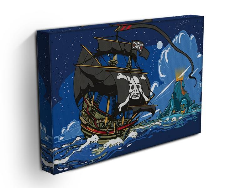Adventure Time Pirate Ship Sailing Canvas Print or Poster - Canvas Art Rocks - 3