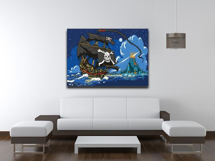 Adventure Time Pirate Ship Sailing Canvas Print or Poster - Canvas Art Rocks - 4