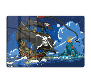 Adventure Time Pirate Ship Sailing HD Metal Print