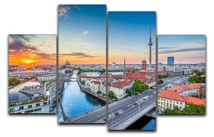 Aerial view of Berlin skyline 4 Split Panel Canvas  - Canvas Art Rocks - 1