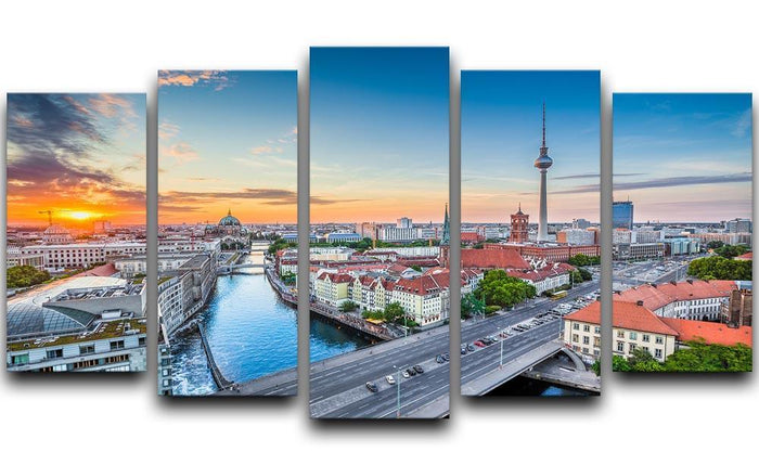 Aerial view of Berlin skyline 5 Split Panel Canvas
